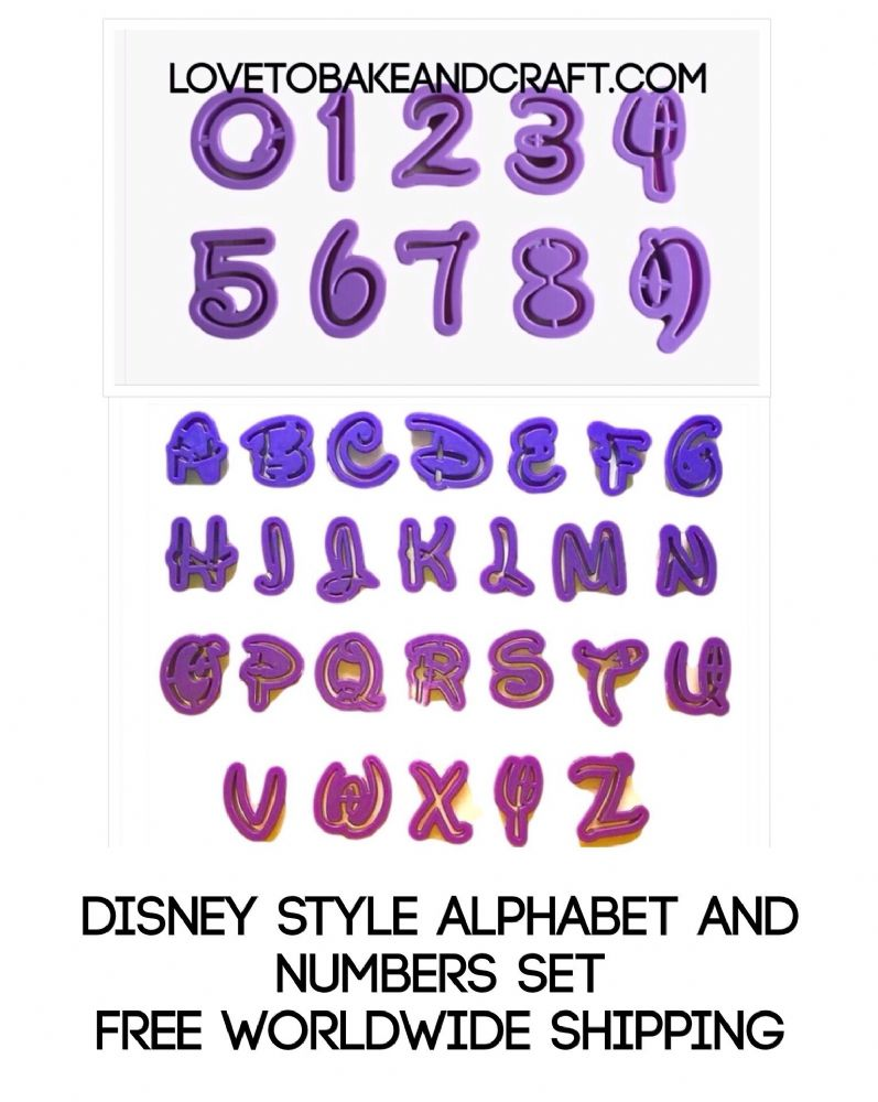 Disney Alphabet And Number Cutters Disney Alphabet Cutters