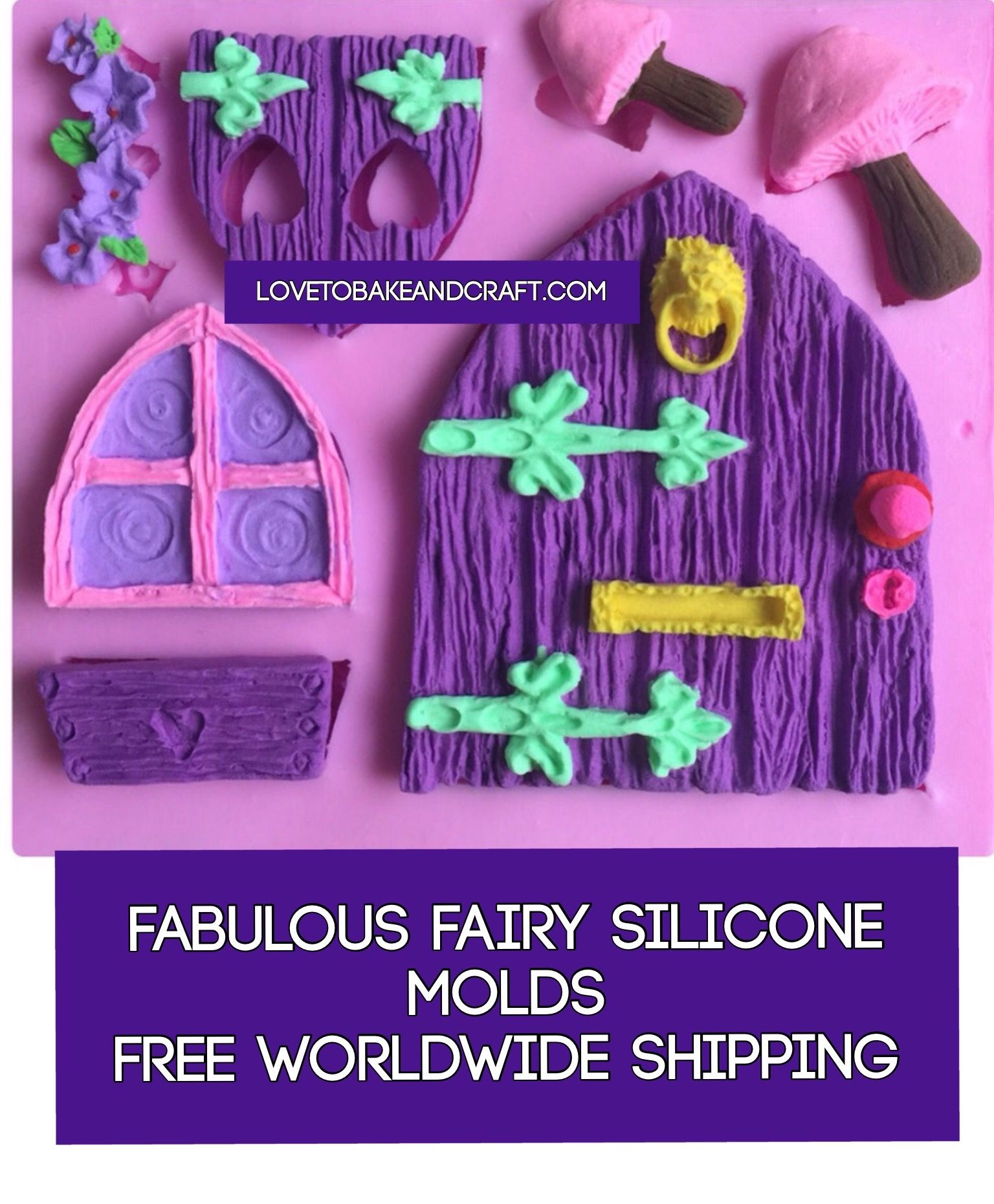 Fairy door fairy window fairy house fairy mould door mold window mold castle MOLD castle mould fairy jar. free worldwide shipping  sc 1 st  Silicone molds Polymer clay mold fimo mold sculpey mold Cake & Fairy door fairy window fairy house fairy mould door mold window ...