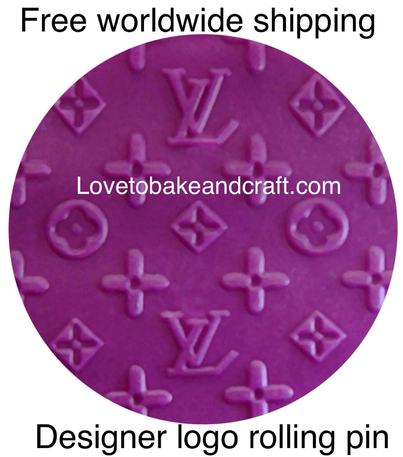 ed7ebeaa245a Large LV rolling pin. Louis Vuitton cake LV Logo . Louis Vuitton cake .  Free shipping